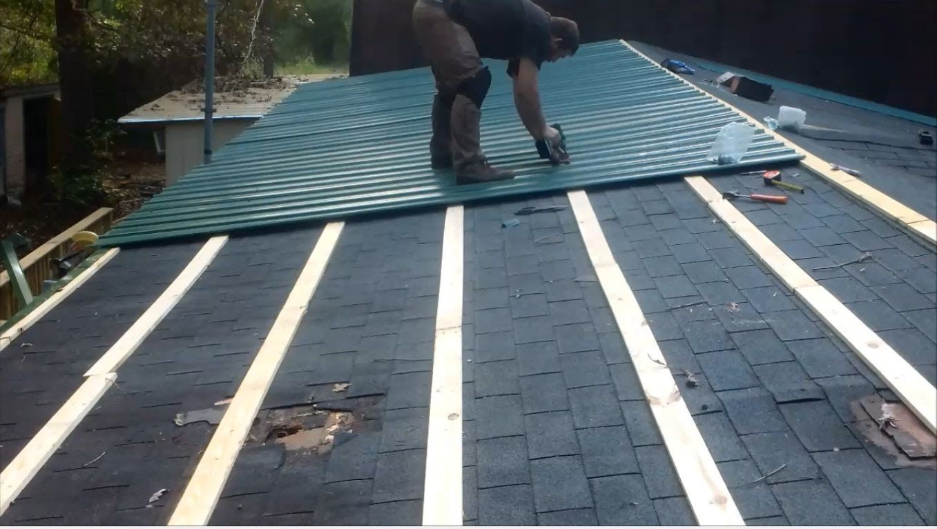 How To Metal roof for cheap YouTube Metal roof over