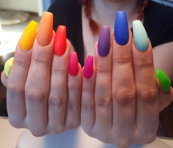 This Item Is Unavailable Rainbow Nails Perfect Nails Square Acrylic Nails