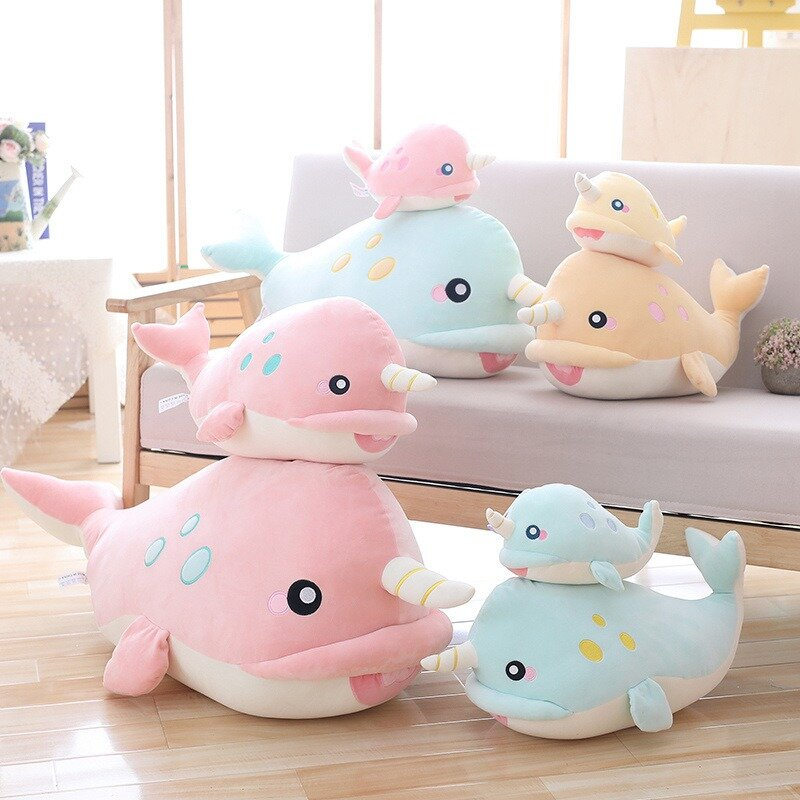 Hot-sale DecBest Soft Whale Big Hugging Pillow Plush Doll Cotton Fabric Stuffed ...