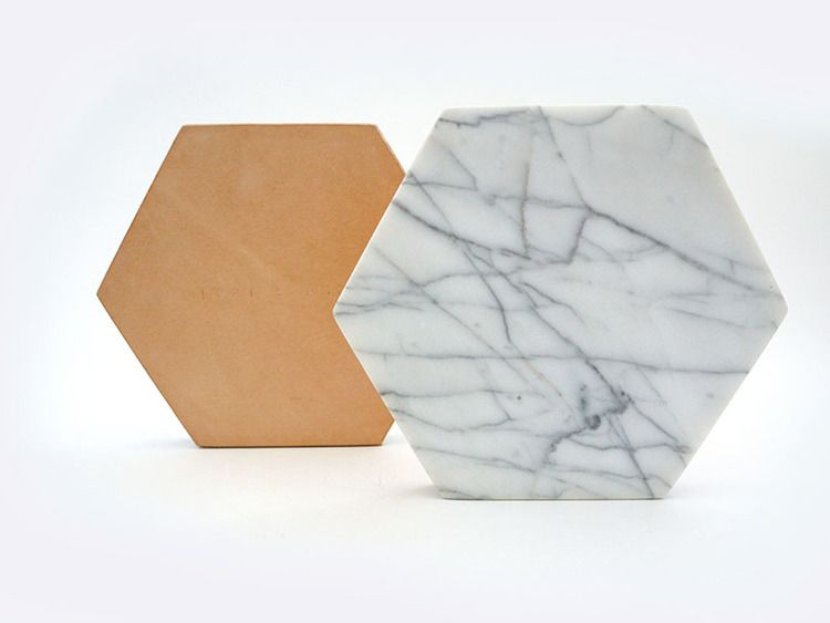 Marble Trivet White Carerra Hexagon Cararra Marble Fort Standard