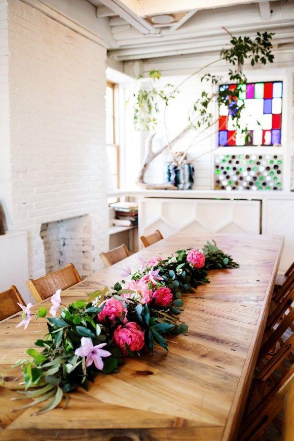DIY Floral Wedding Garland