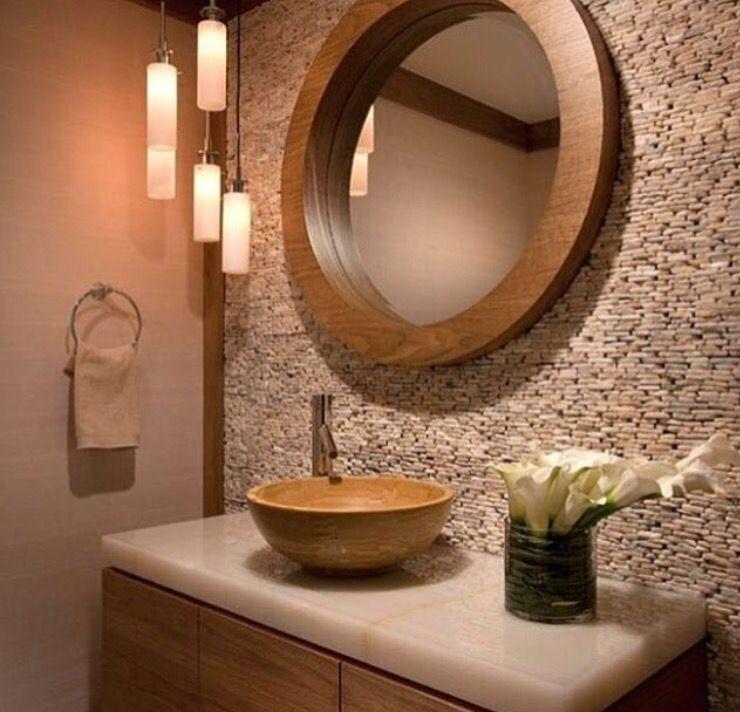 5 افكار لتصميم ديكورات حمامات بسيطة Powder Room Decor Powder Room Sink Beautiful Bathrooms