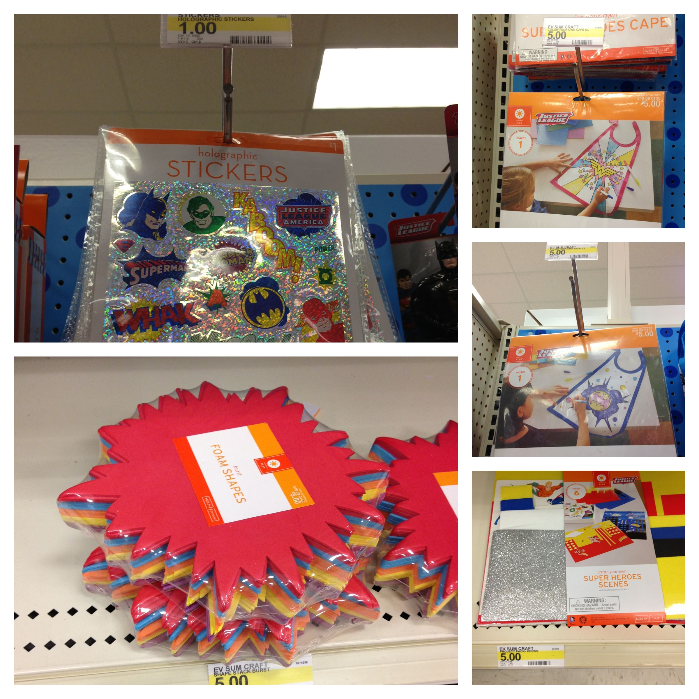 Super Hero themes classroom goodies at Target