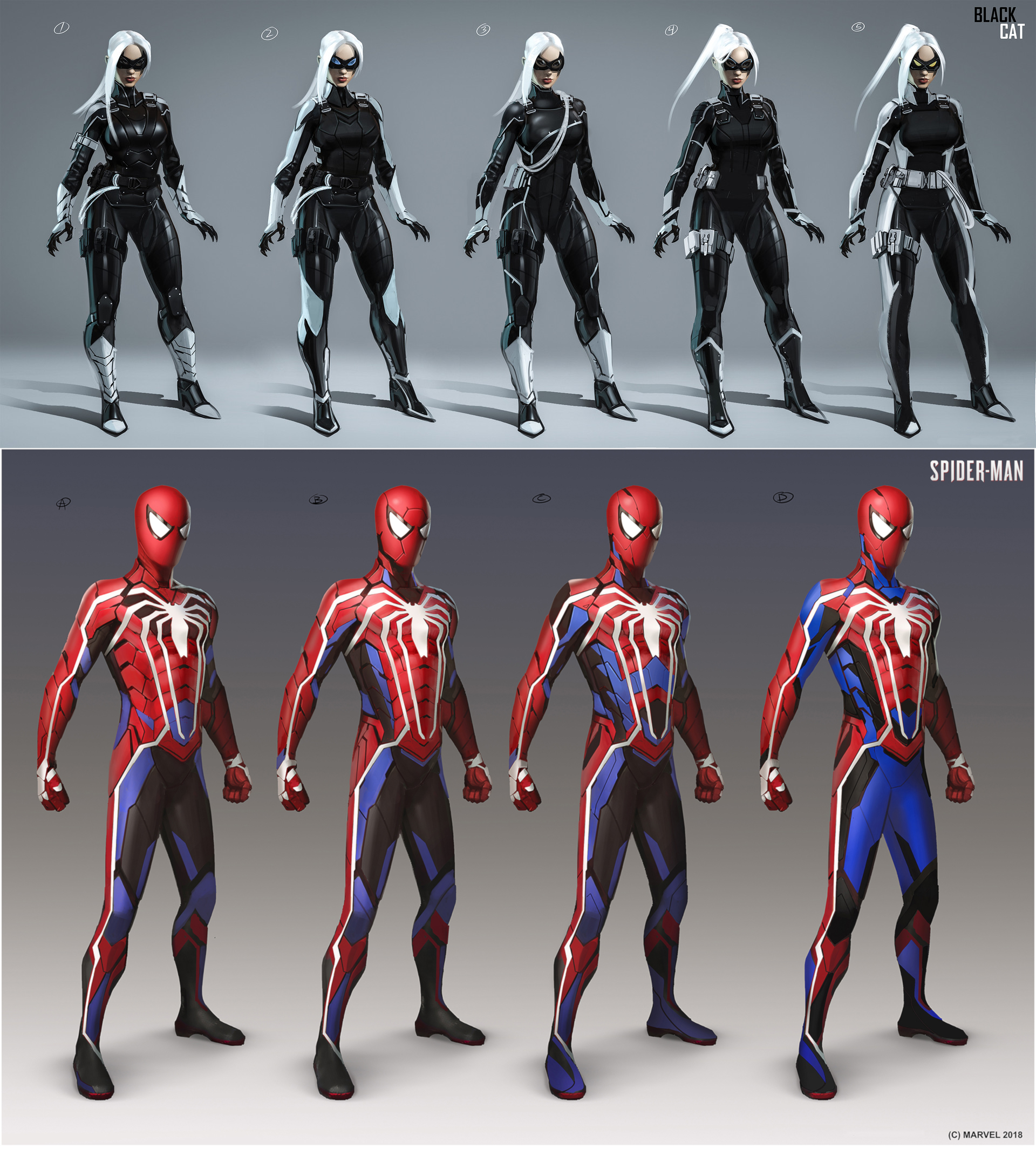 Early Official Concept Art Of Spider Man And Black Cat Daryl Mandryk Black Cat Marvel Spiderman Black Cat Spiderman