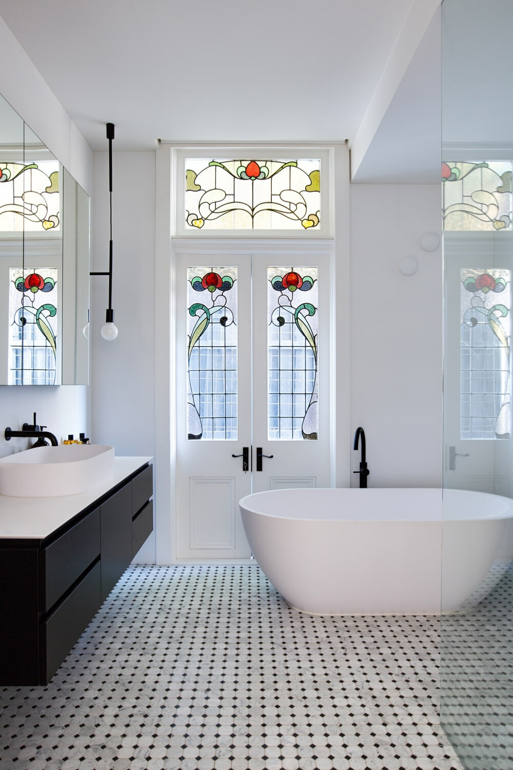 Charming Modern Bathroom Design Inside the St. Kilda Cottage House by Jost Architects