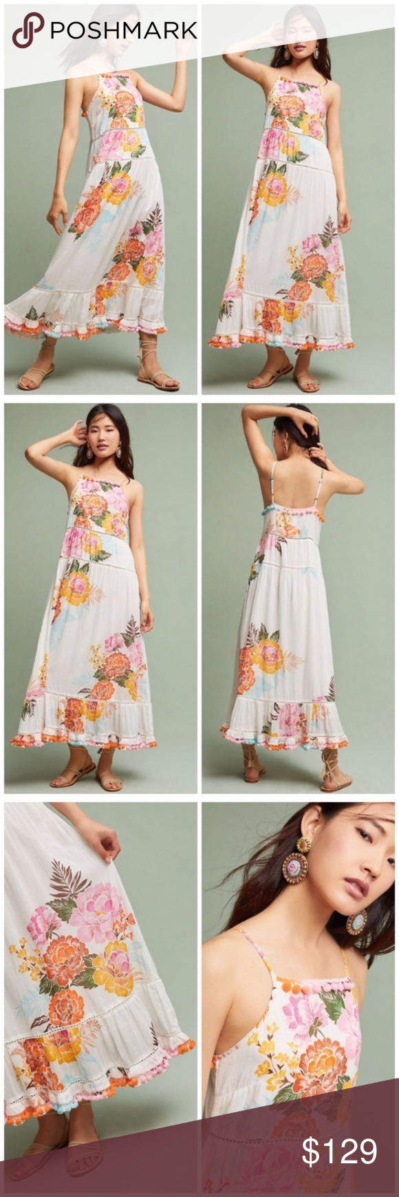 444c756aae2 Anthropologie Farm Rio Havana Floral Dress