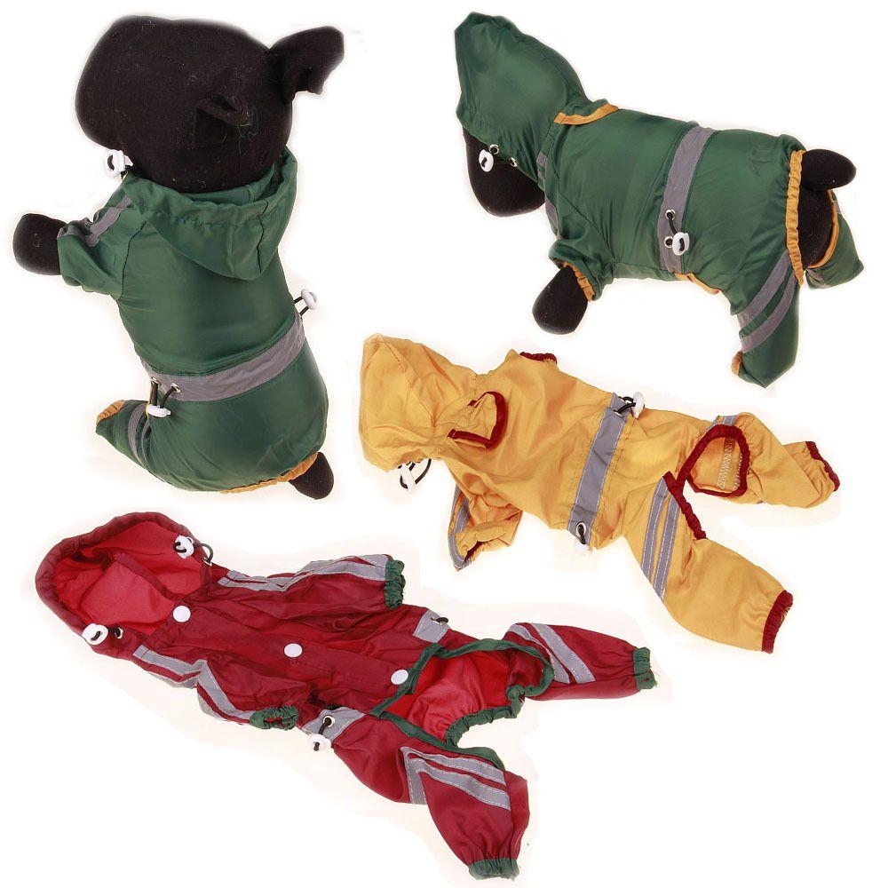 2017 new pet dog raincoats reflective solid outdoor