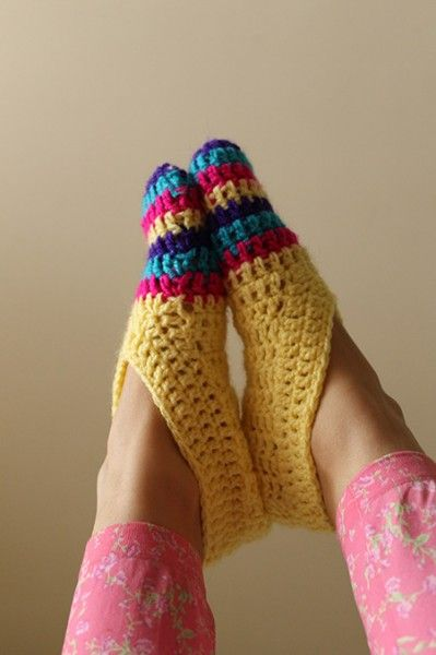 Patrón para tejer pantuflas a crochet. | Projects | Projects by ...