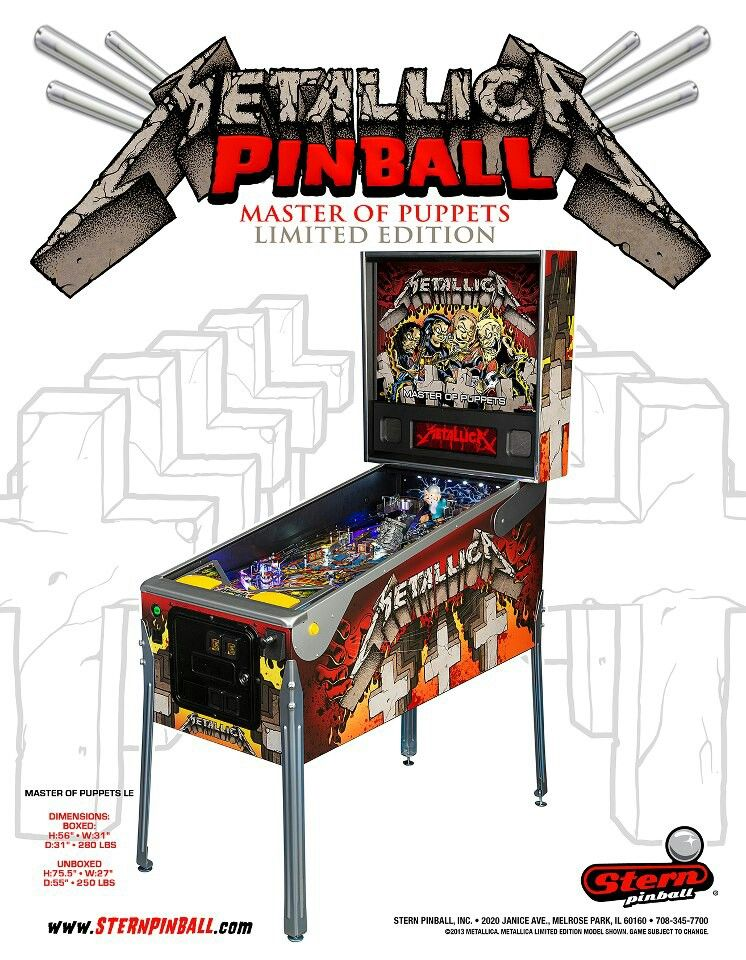 Metallica pinball from Stern | 90s kids | Pinball wizard