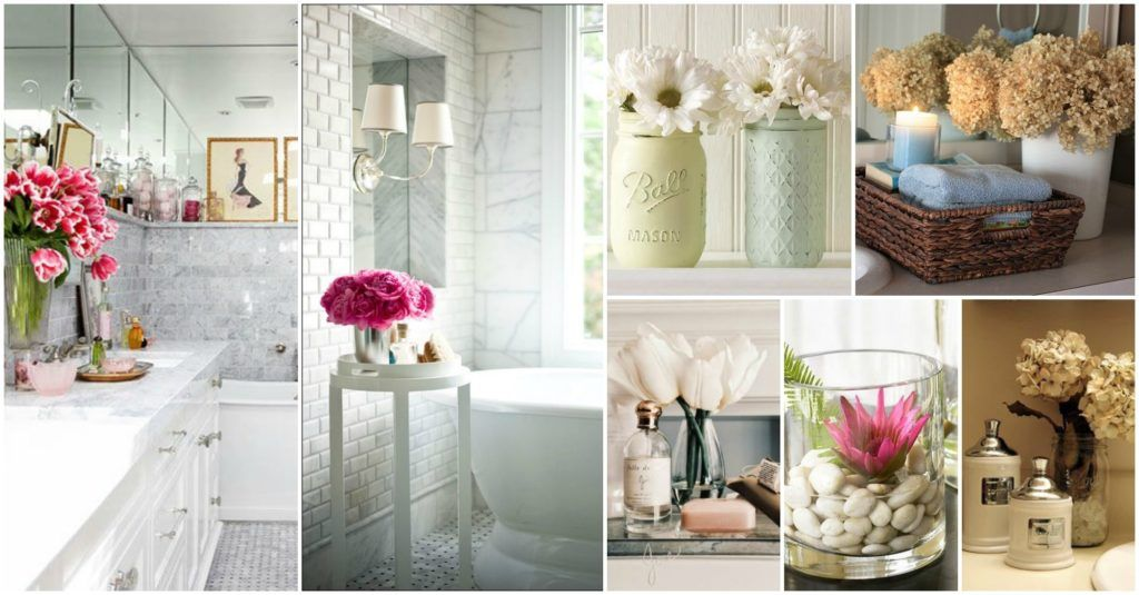 decorate bathroom with flowers