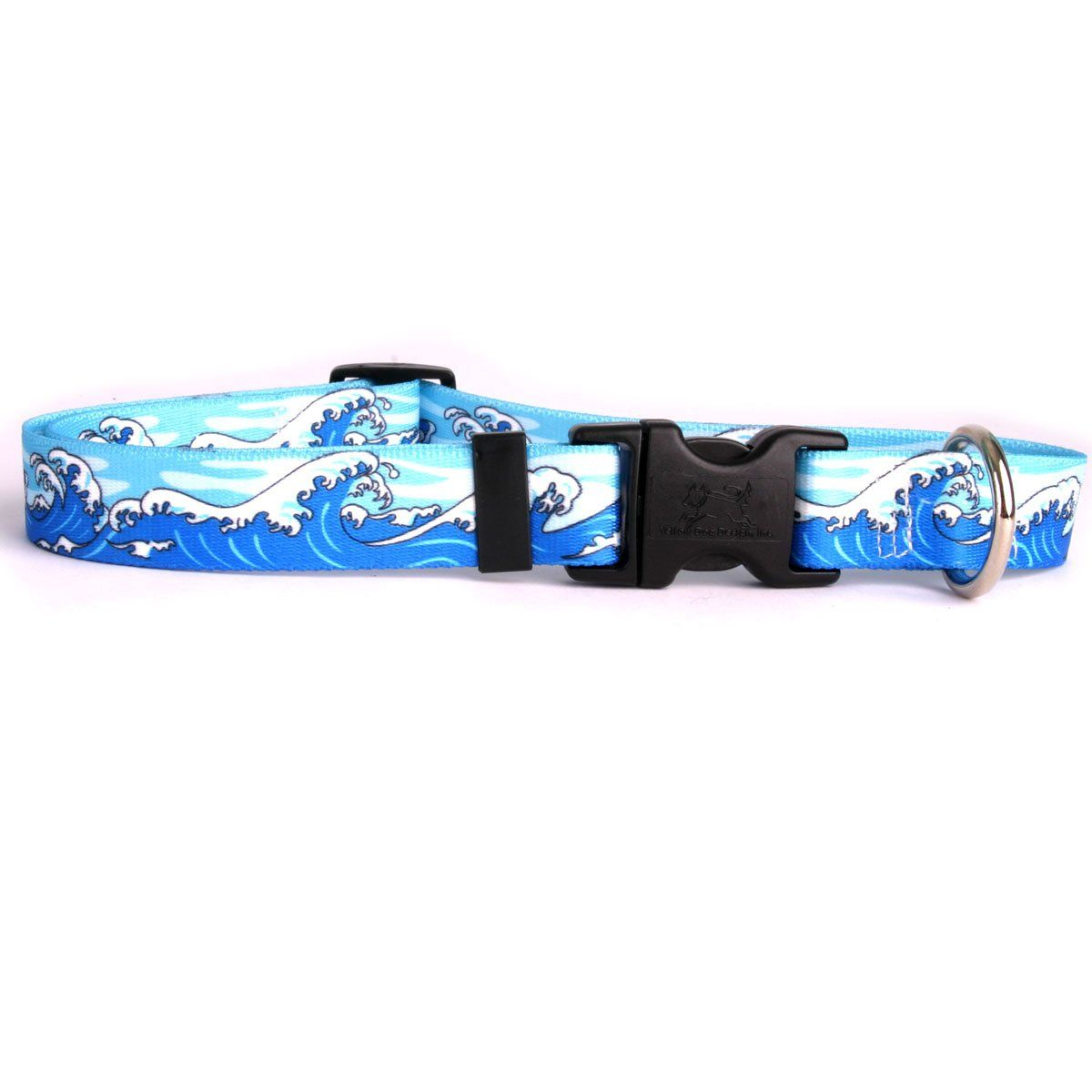 Yellow Dog Design Mystic Waves Blue Dog Collar Continue To The