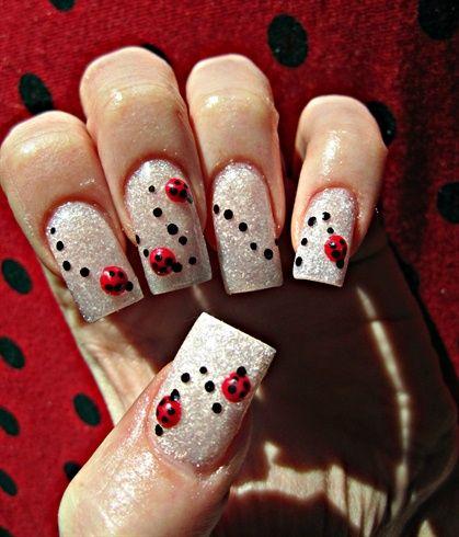 Ladybug Parade by stephaniemercer - Nail Art Gallery  nailartgallery.nailsmag.com by Nails Magazine - Ladybug Parade By Stephaniemercer - Nail Art Gallery Nailartgallery