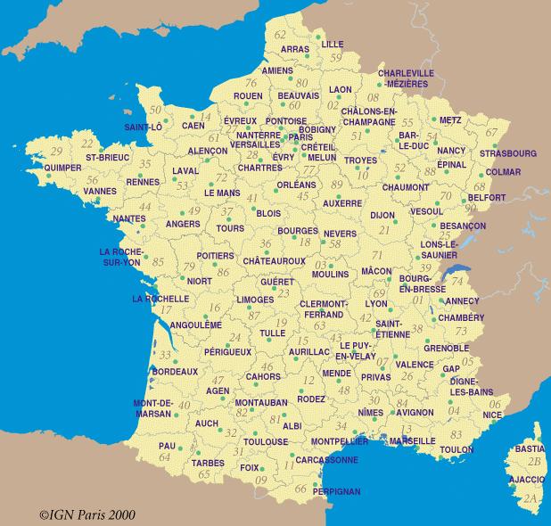 Carte France Villes Carte De France Ville France Ville France