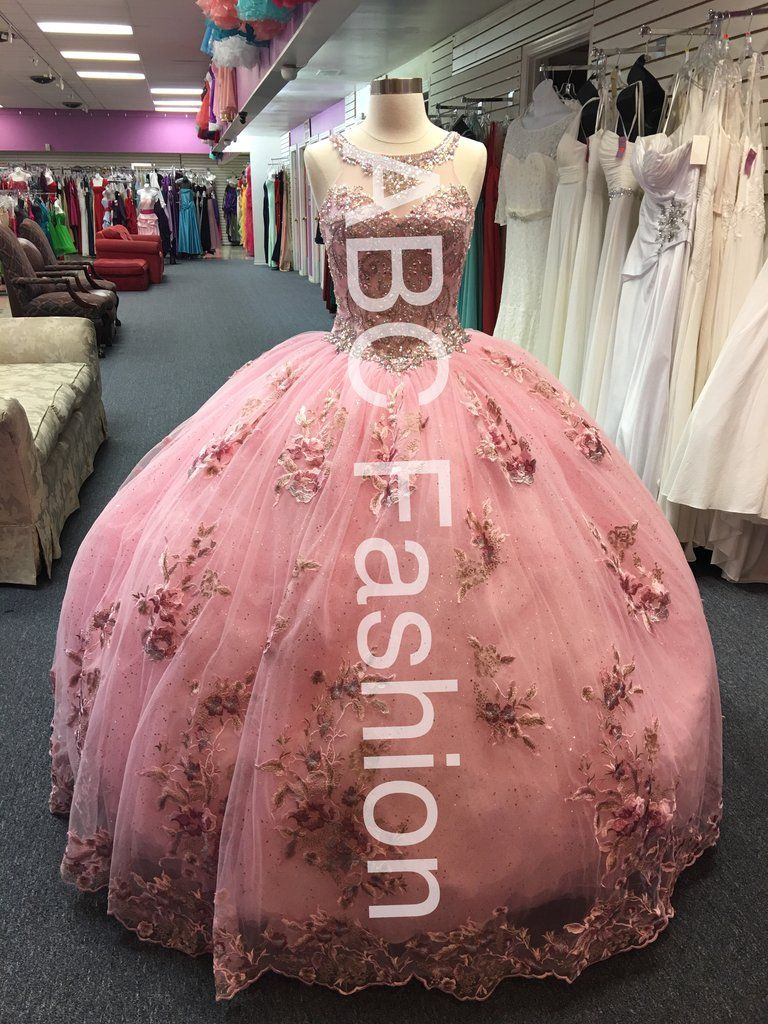2e9e30a53 Floral Appliqued Quinceanera Dress by House of Wu 26884-House of Wu-ABC  Fashion