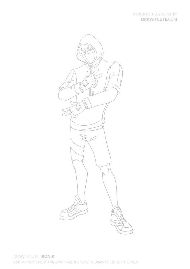 How To Draw Ikonik Easy Fortnite Season 8 Tutorial Draw It Cute Dessins Faciles Coloriage Dessin A Colorier