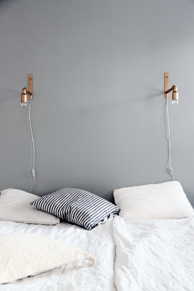 Designer Bedroom Lamps Inspiration Grey Copper Black & White  Simple Copper Sconces  Grey And Review