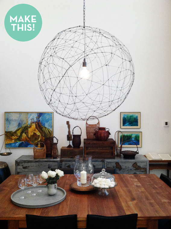 How To Make Your Own Wire Orb Light For Ivy Hang On