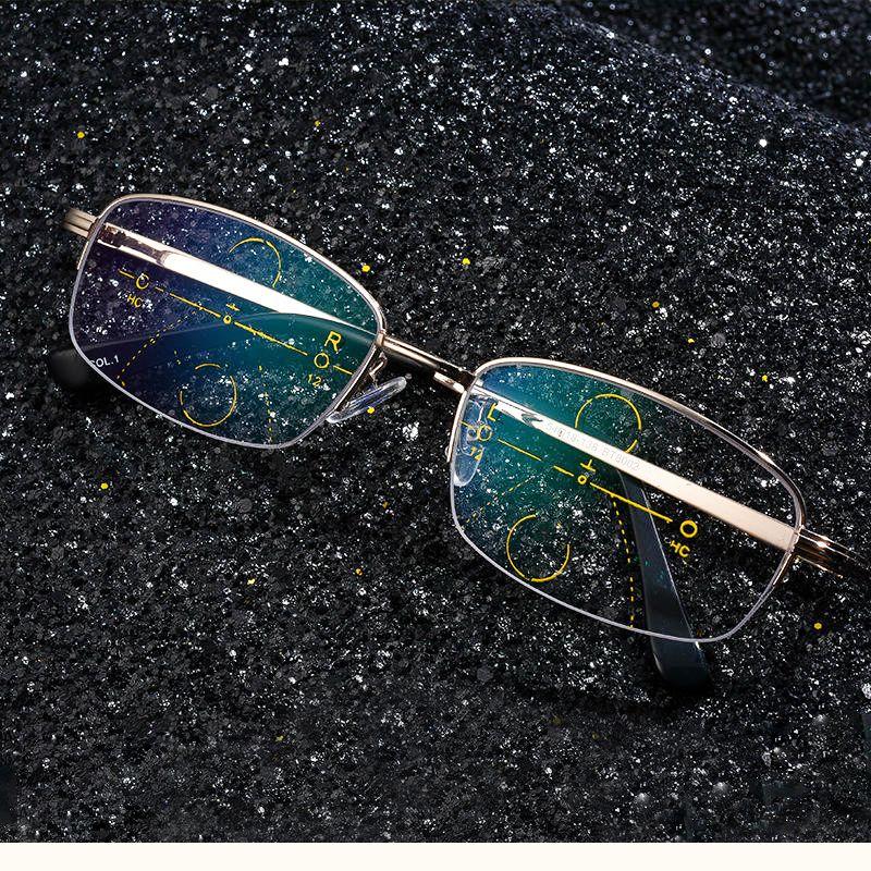 f81dd058f51 KCASA Intelligent Reading Glasses Progressive Multifocal Lens Presbyopia  Alloy Frame Anti Fatigue