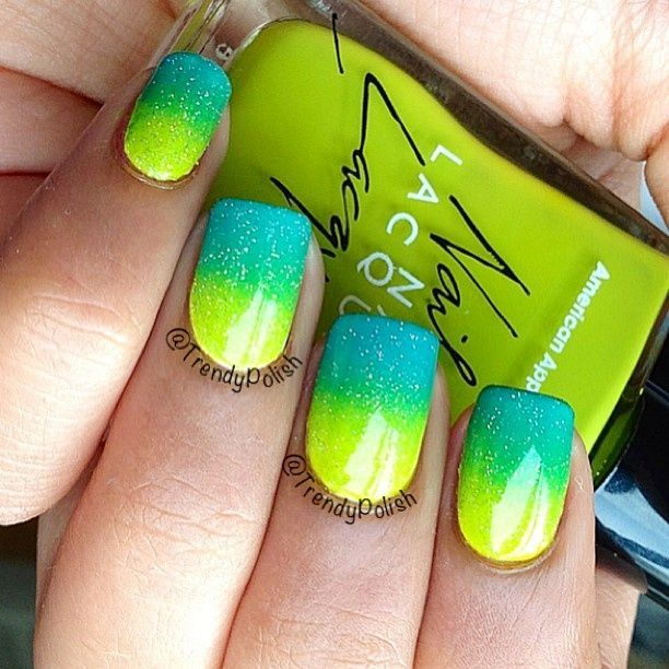Blue green nail designs images nail art and nail design ideas 17 best ideas about neon blue nails on pinterest bright blue 17 best ideas about neon prinsesfo Gallery