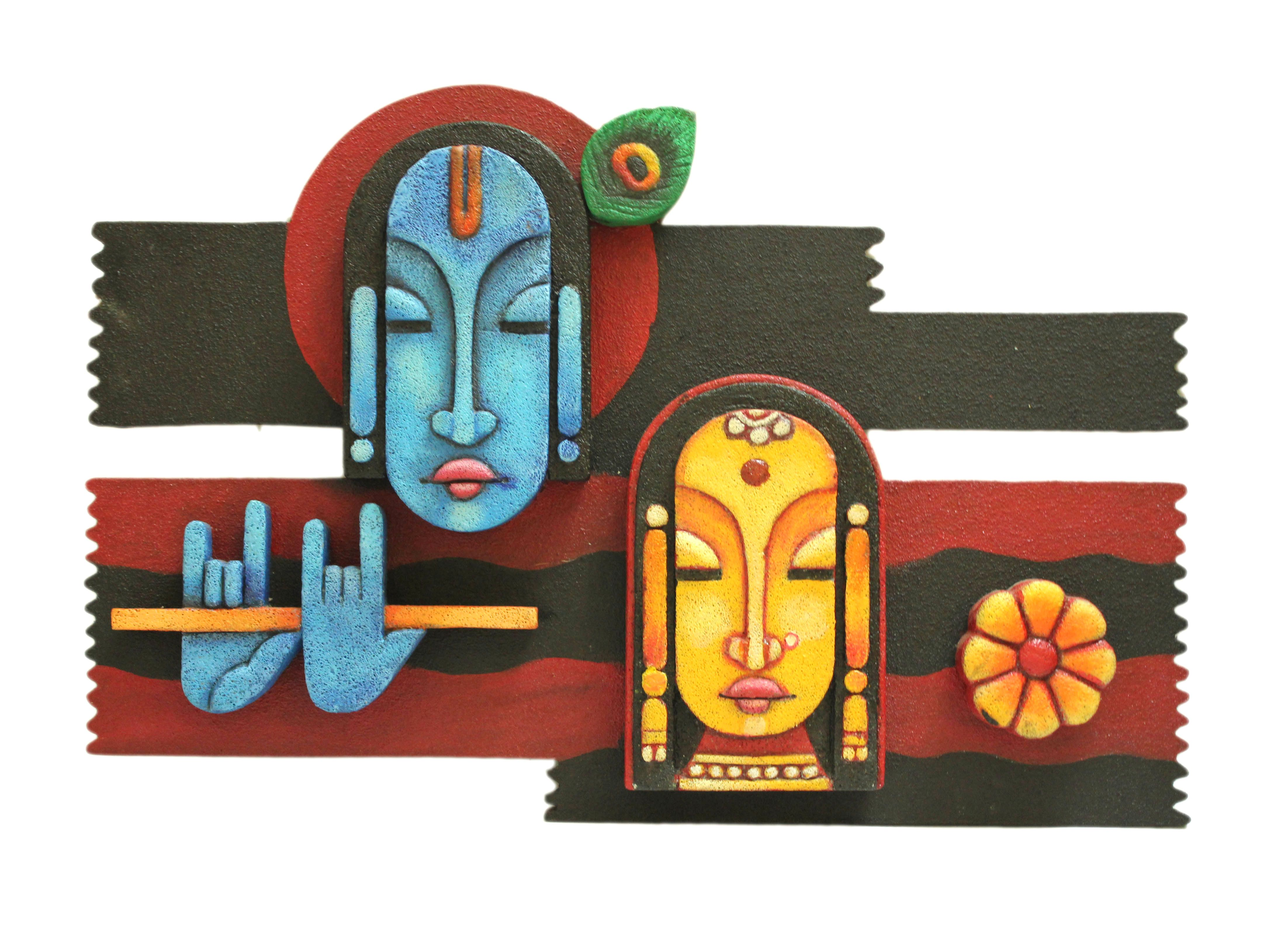 this radha amp krishna wall mural adds that admirable radha krishna and gopini mural deco painting on a wooden