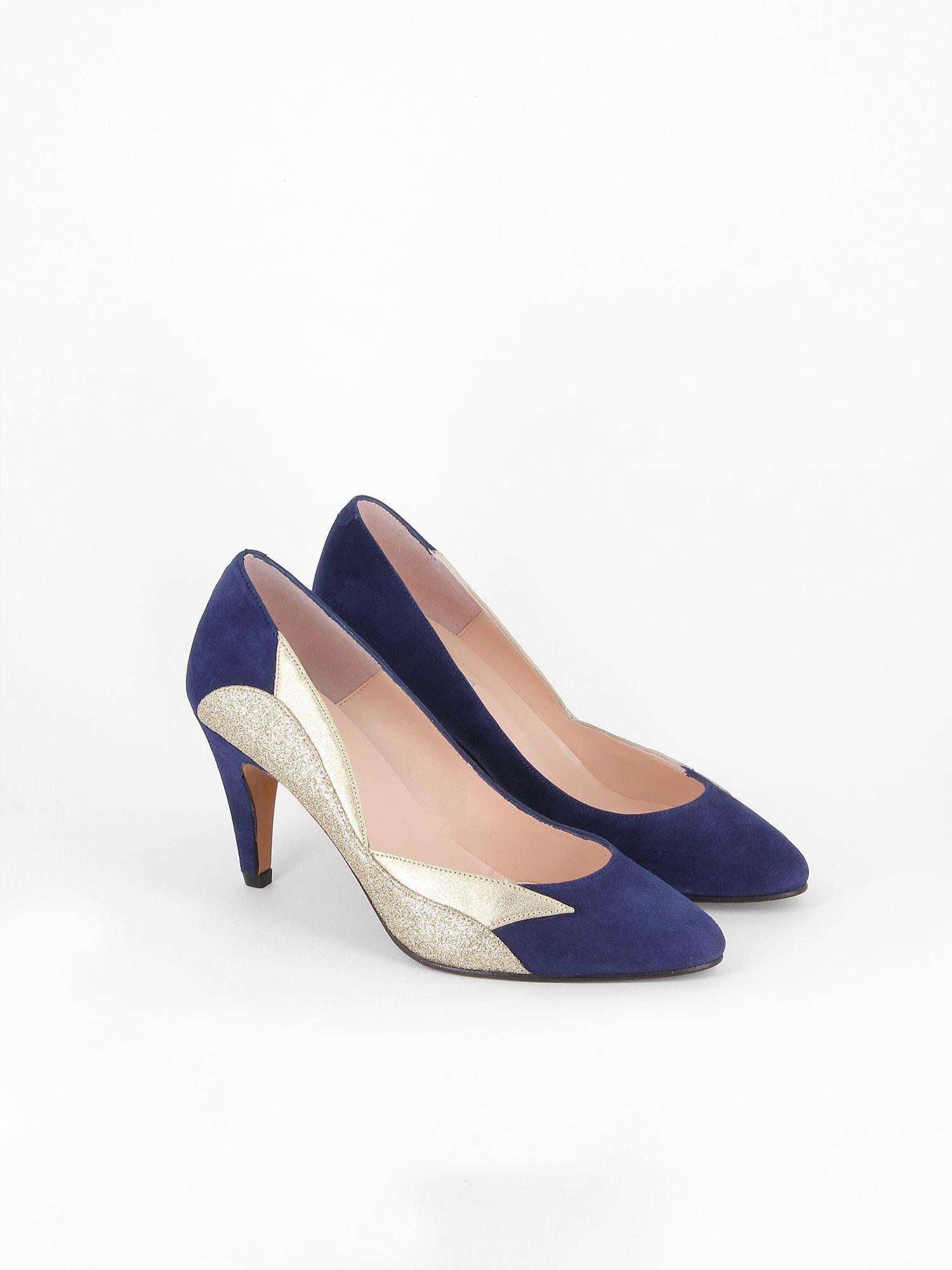 50af035fdab908 Patricia Blanchet Escarpin Bleu, Mariage Bleu Marine, Chaussures Bleues,  Belle Chaussure, Chaussures