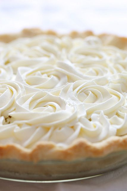 fresh coconut cream pie (I wonder if I can substitute coconut milk for reg milk?)