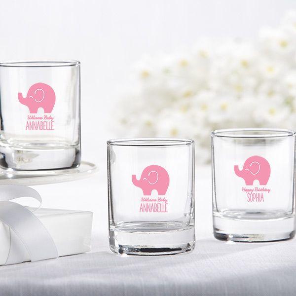 Personalized Little Peanut Elephant Shot Glass/Votive Holder | Cool ...