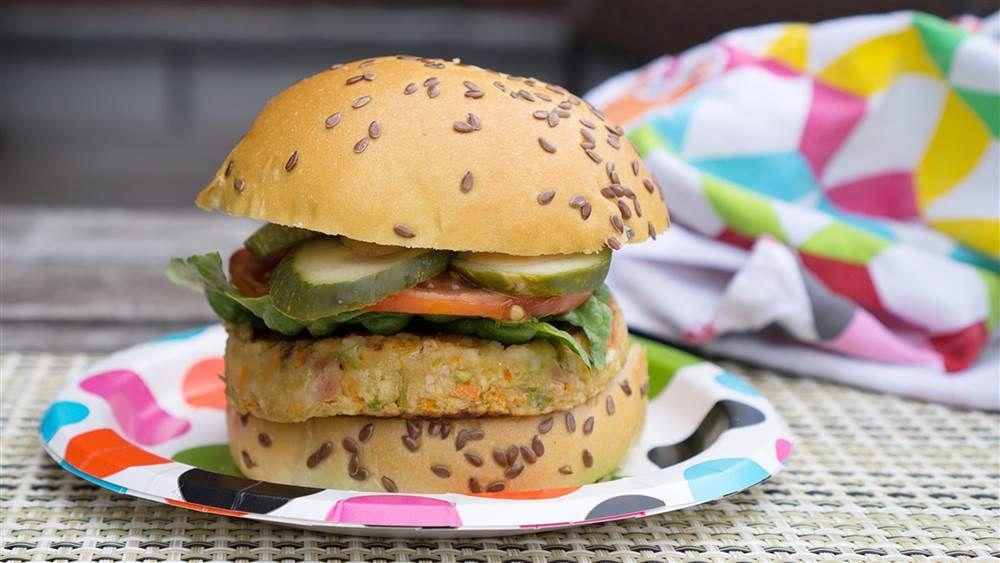 Multigrain Veggie Burger Recipe Veggie Burger Vegetarian Bbq Veggie Burgers Recipe