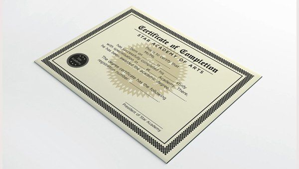 Completion Certificate Design Award certificates Pinterest - completion certificate format