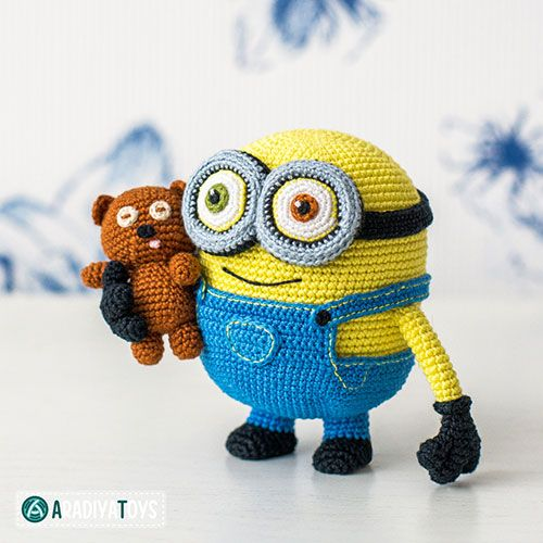 Free Crochet Pattern For Bob The Minion : Minion Bob and Bear Tim amigurumi pattern by AradiyaToys ...