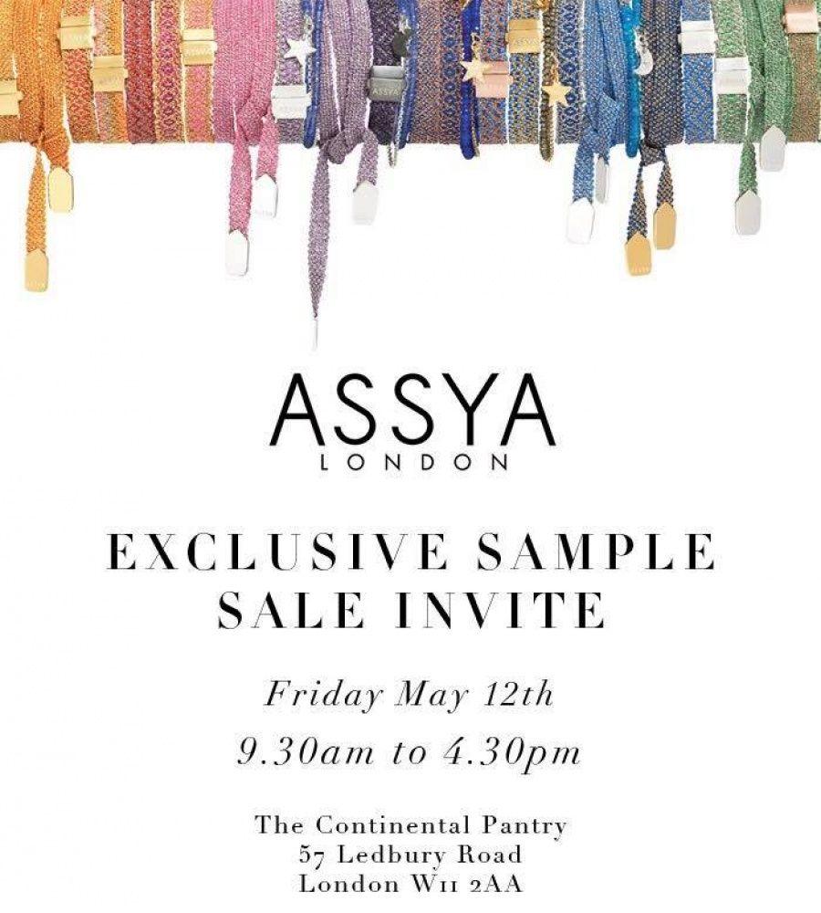 Assya Sample Sale Ondon 12 05 Sample Sale Invite Sample Sale Sample