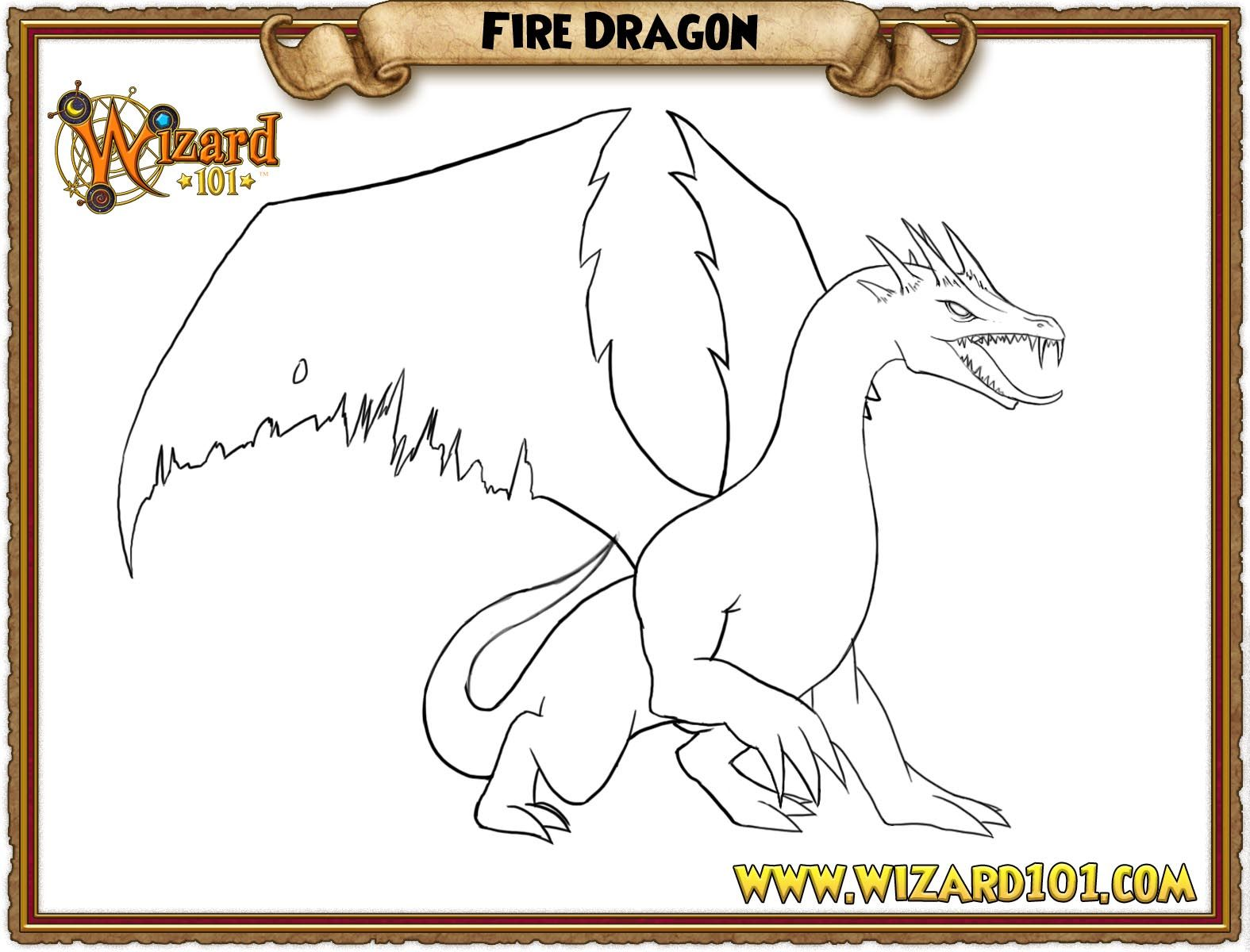 wizard101 hydra coloring pages Paiges Page Paiges