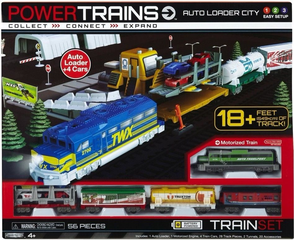 Electric Train Set Track Power Auto Loader City Teens Boys Kids Great Gift New Jakkspacific Camera