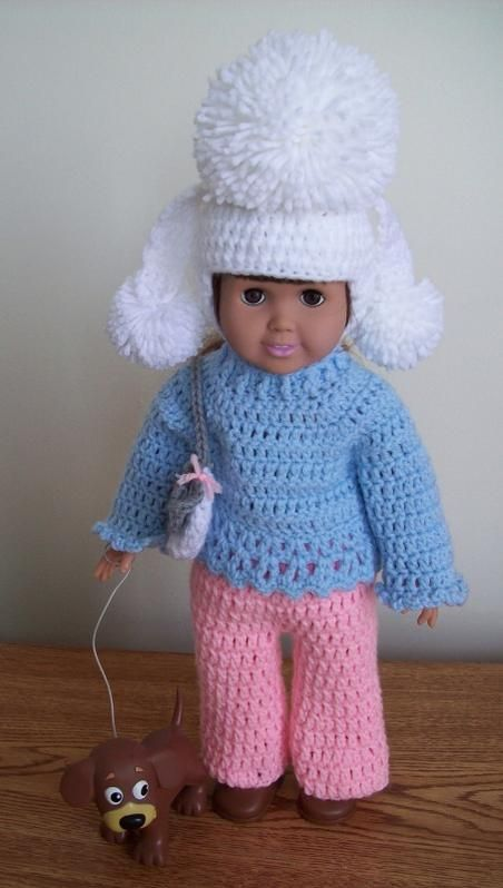 bon chiot | Doll Knit and Crochet | Pinterest