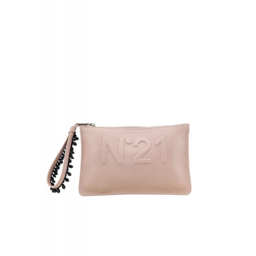 N21 Emebllished Nude Logo Clutch | Womens Bags
