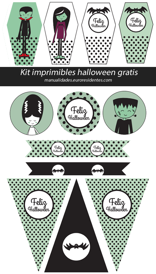 Kit imprimible de Halloween | Boo! | Pinterest | Halloween ...