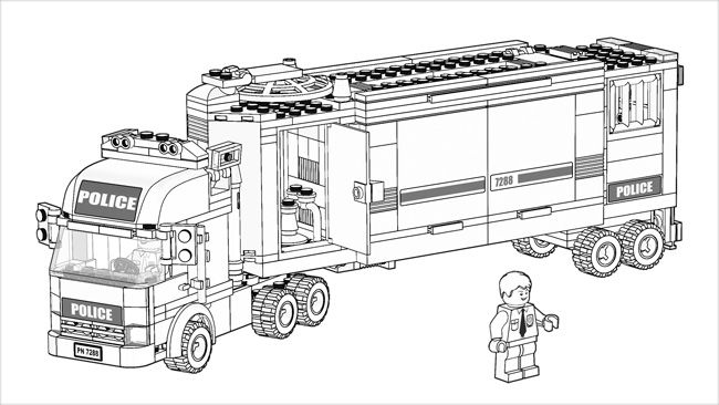 Lego Com City Downloads Coloring Pages Coloring Pages 7288 Lego Coloring Pages Lego Coloring Sheet Lego Coloring
