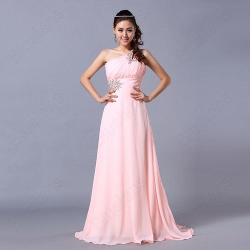 Pink Color Stock 9 Size Formal Prom Gowns Slim Evening Ball Cocktail ...