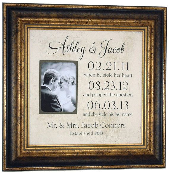 Wedding Frame Special Dates YOUR LOVE STORY Personalized Gift Mr Mrs Sign Engagement Anniversary 16 X