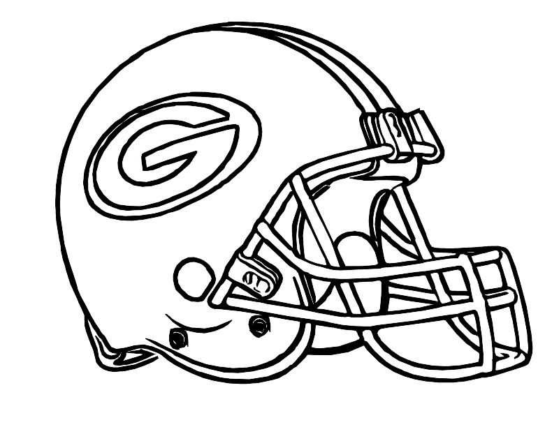 a94887aa Football Helmet Green Bay Packers Coloring Pages | green bay packers ...