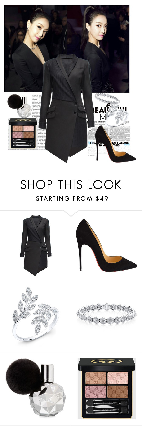 """Untitled #35"" by janjanzira ❤ liked on Polyvore featuring Lattori, Christian Louboutin, Anne Sisteron and Gucci"