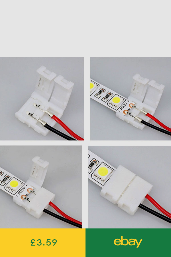 10pcs 2 Pin Connector For 3528 Led Strip Light Pcb To Pcb Connector Cable 18cm In 2020 Led Strip Lighting Strip Lighting Rgb Led Strip Lights