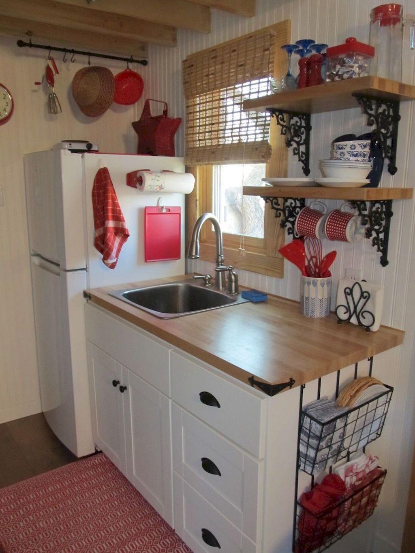 75 Clever Tiny House Kitchen Design Ideas Homekover Kitchen Design Small Tiny House Kitchen Diy Kitchen Storage