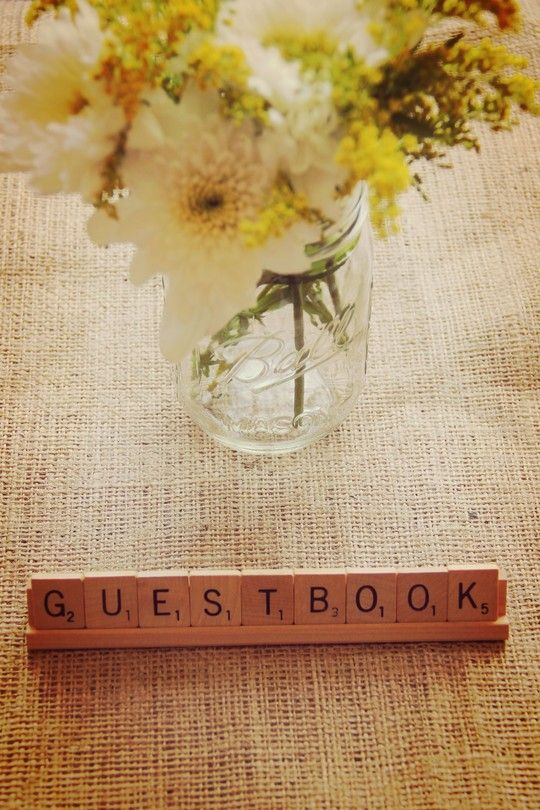 Guestbook Scrabble Vintage Letters available for hire (www.littledetails.co.nz)