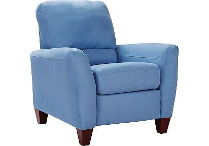 avelar blue recliner $400 {Rooms to Go}