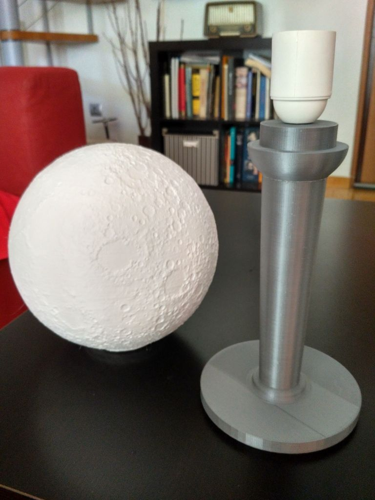 Moon Lamp E27 By Ncostis Thingiverse 3d Printing Lamp Decor
