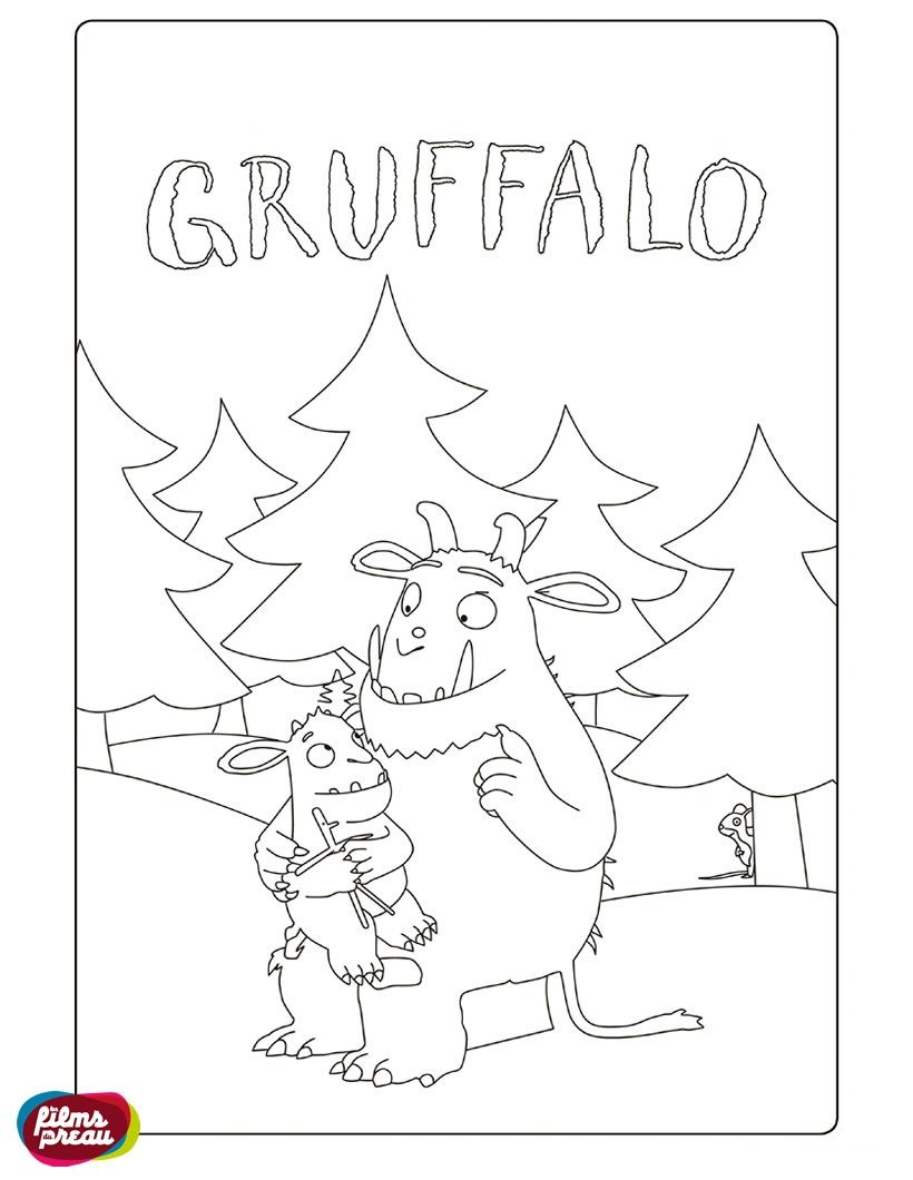 The gruffalo colouring pages to print - Kleurplaat Gruffalo The Gruffalocoloring