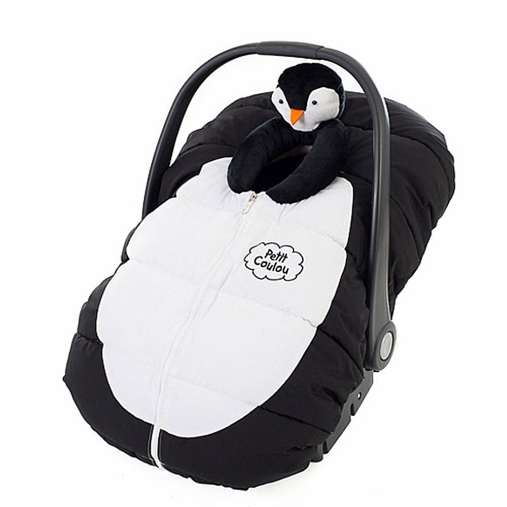 Petit Coulou Car Seat Cover Pinglou Black And White