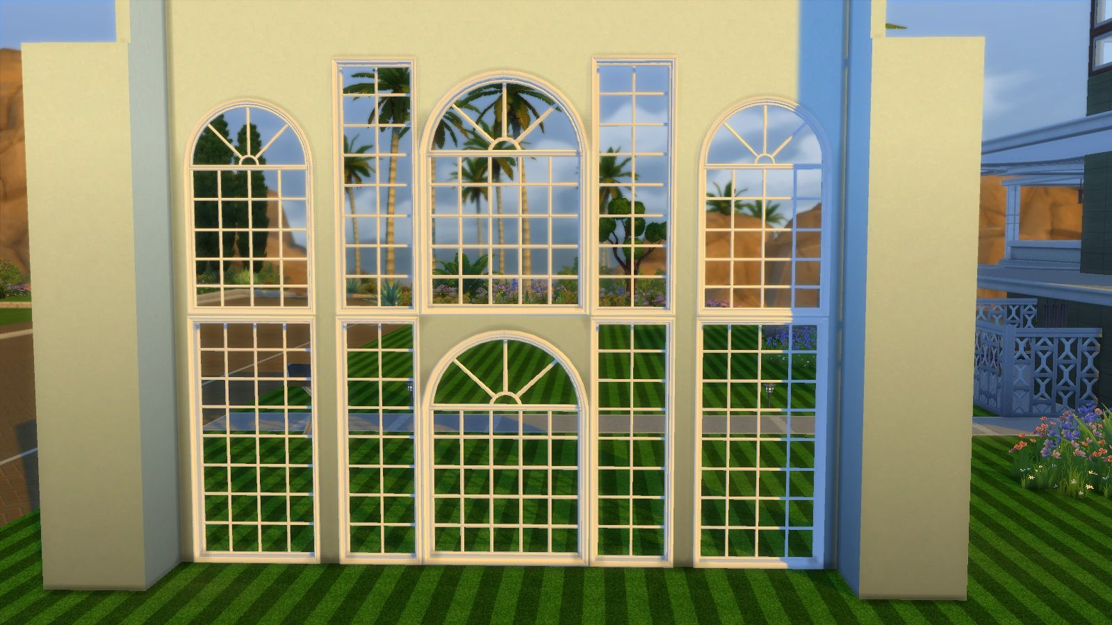 Mod The Sims Colonial Build Windows The sims, Sims 4, Sims