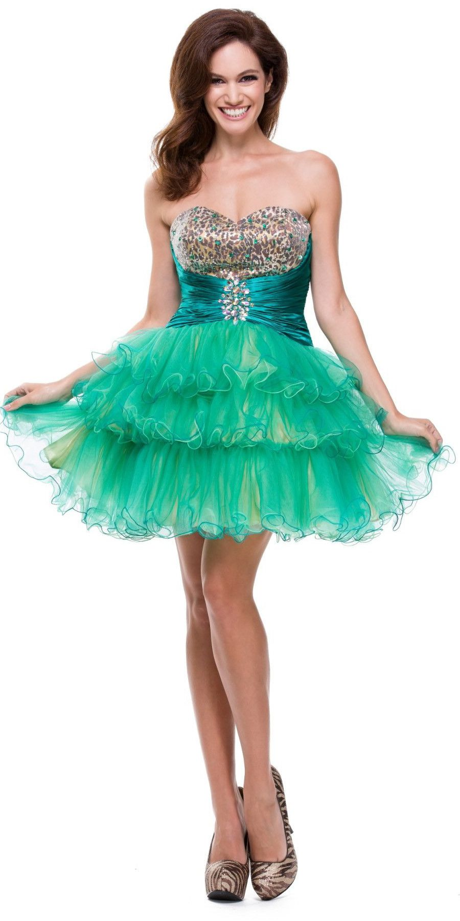 ON SPECIAL - LIMITED STOCK - Animal Leopard Print Teal Sweet 15 ...